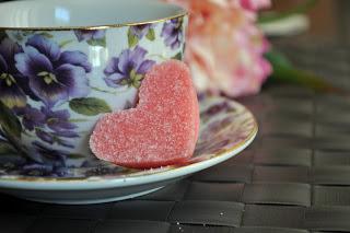 DIY pink sugar hearts