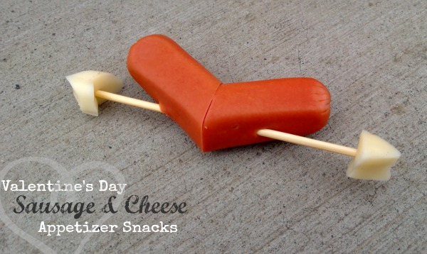 DIY sausage and cheese appetizer