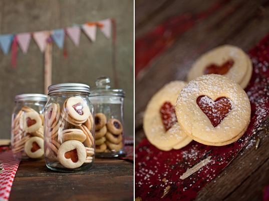 DIY jam heart biscuits