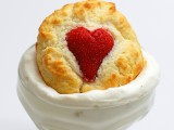 DIY strawberry heart shortcakes