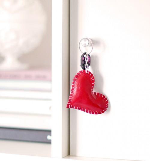 DIY heart key ring