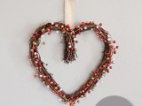 DIY heart berry valentine