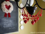 DIY heart chandelier necklace