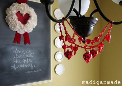 DIY heart chandelier necklace