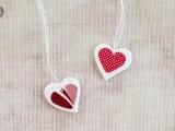 DIY decoupage heart necklace