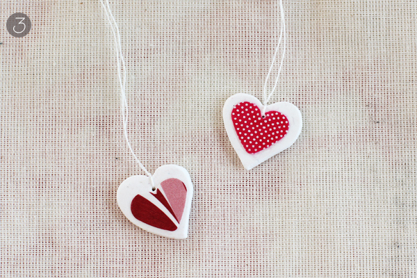 DIY decoupage heart necklace