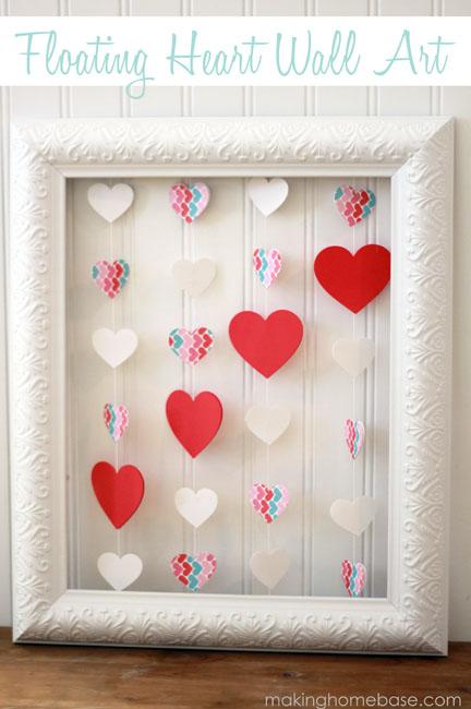 DIY heart wall art piece