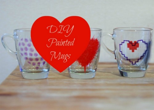 DIY heart painted mugs (via thethings-we-do)