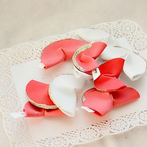 DIY paper fortune cookies