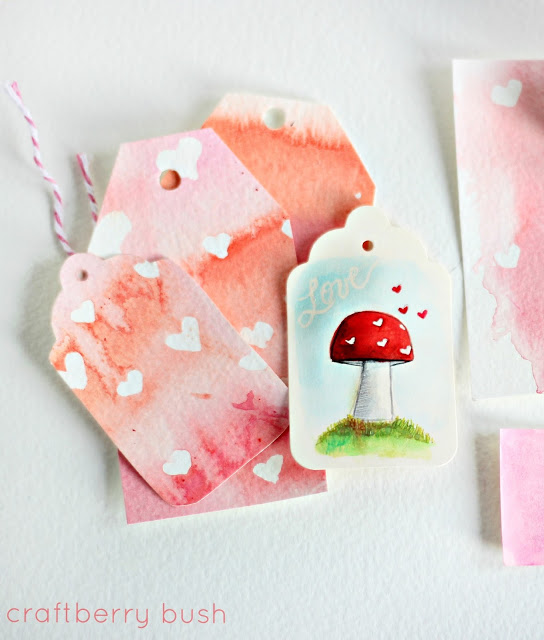 DIY watercolor tags