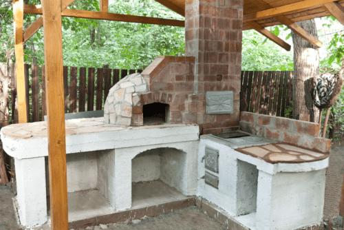 big outdoor pizza oven