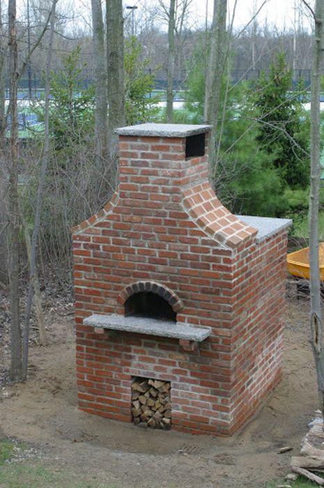 big brick pizza oven