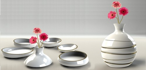 Vase That Transforms Into Five Serving Dishes