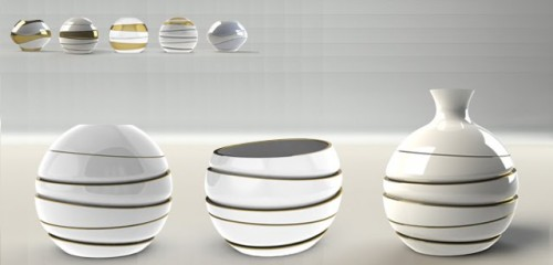 Vase Transformable Into Bowls
