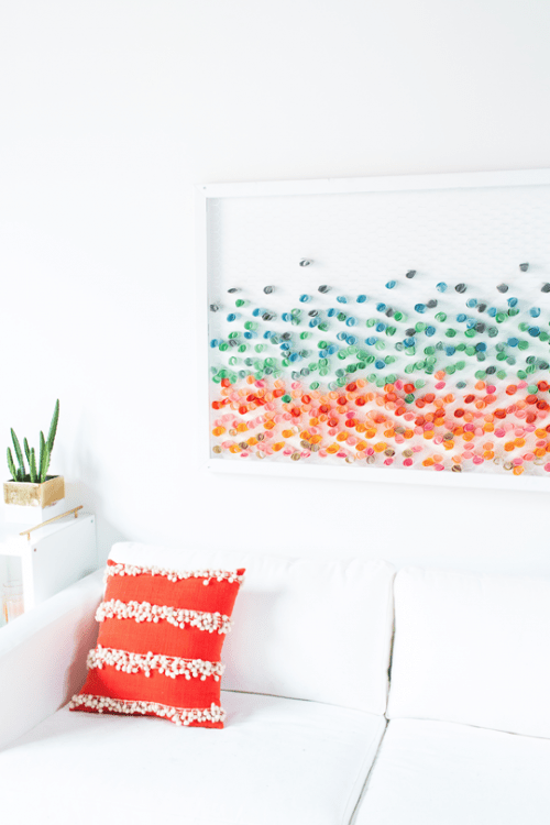 Colorful Versatile Diy Paper Wall Art Shelterness