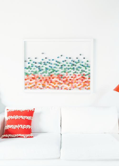 Versatile Colorful Diy Paper Wall Art
