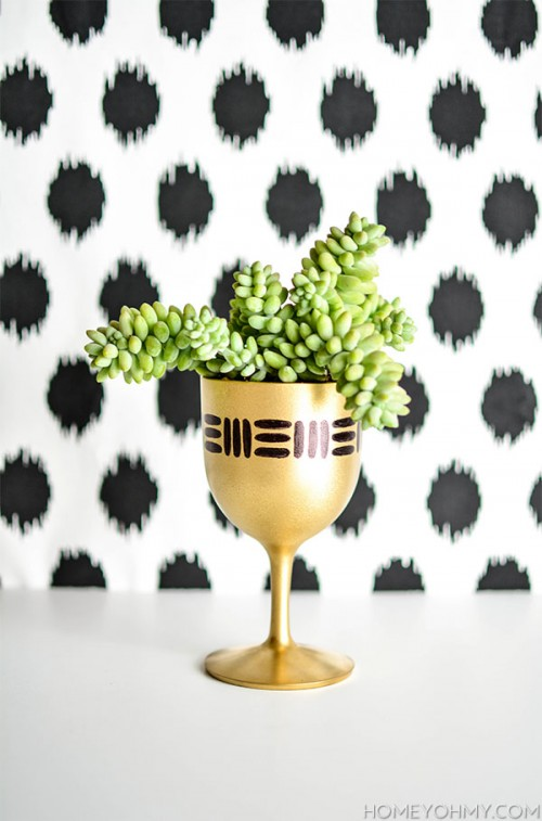 Very Easy Diy Gold Goblet Planter