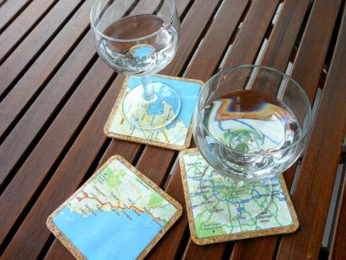 Very Easy Diy Map Coasters