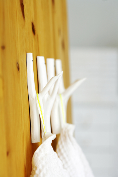 Very Simple DIY Branch Hooks For Your Coats