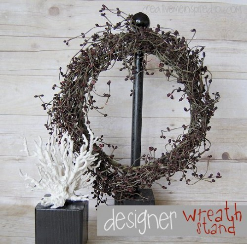 Simple And Stylish DIY Wreath Stand