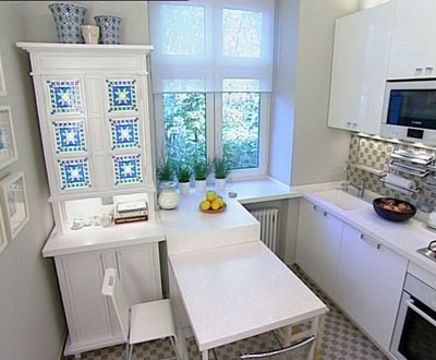 Small kitchen ideas archives shelterness for Small square kitchen ideas