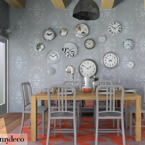 cool ideas to use vintage clocks to decorate your interior photo 22