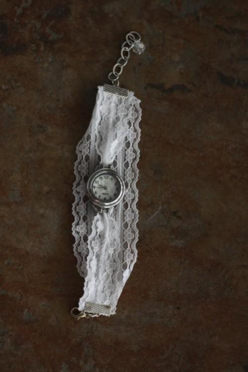 Vintage Diy Watch With Alace Bracelet