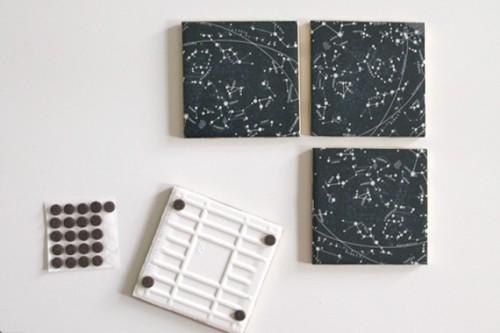Vintage Inspired Diy Constellation Coasters