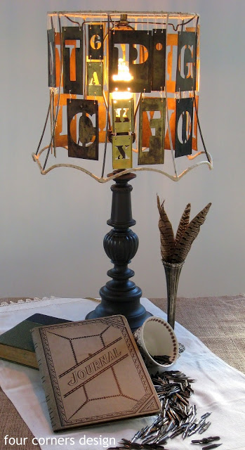 vintage stencils lamp