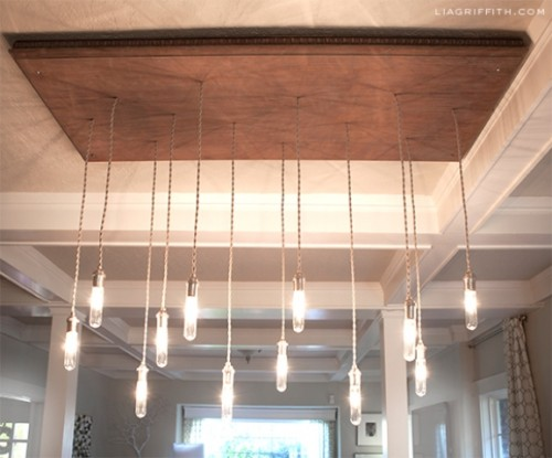 vintage-inspired industrial chandelier (via shelterness)