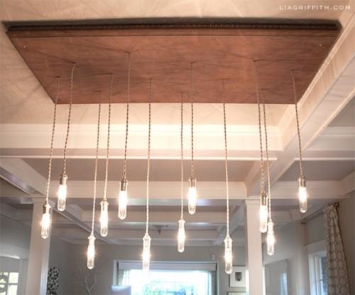 vintage inspired industrial chandelier