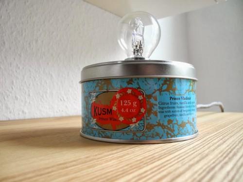 Vintage Inspired Diy Tea Tin Can Lamp