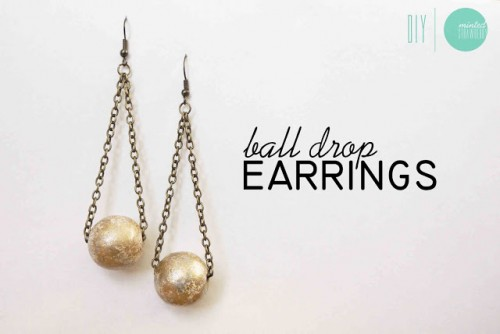 gilded ball drop earrings (via shelterness)