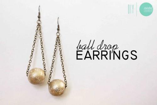 gilded ball drop earrings