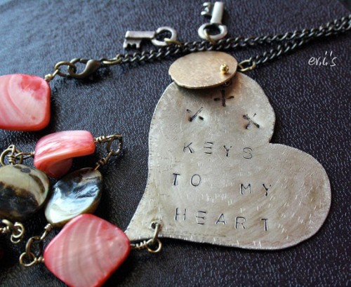 vintage tag necklace