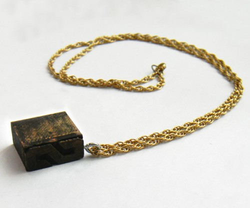 antique stamp necklace (via halfcraftstudio)