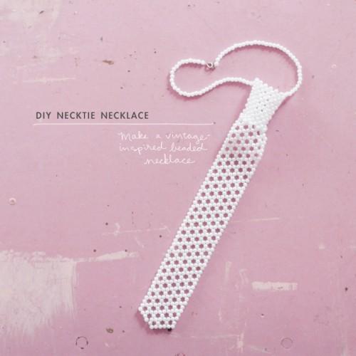 pearl necktie (via makingniceinthemidwest)