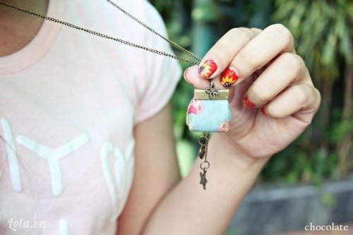 vintage purse pendant