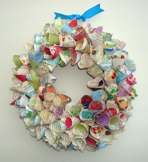Vintage Inspired Paper Wreaths