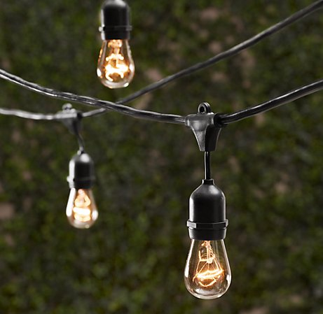 vintage outdoor lighting string shelterness