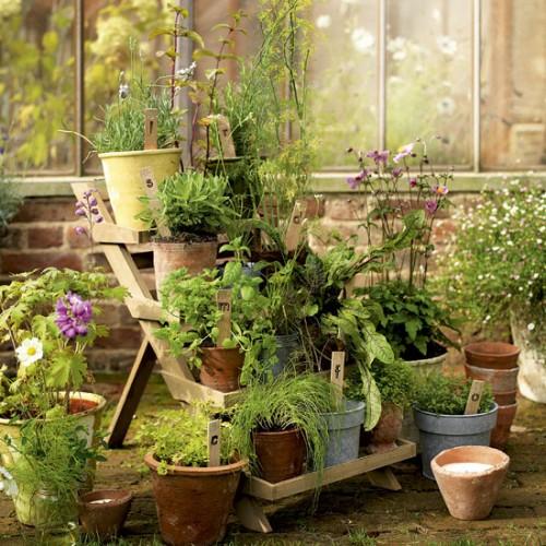 Vintage Outdoor Planters