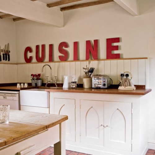 French Vintage Kitchen Design: 20 Ideas To Use Vintage Signs In Interior Decorating
