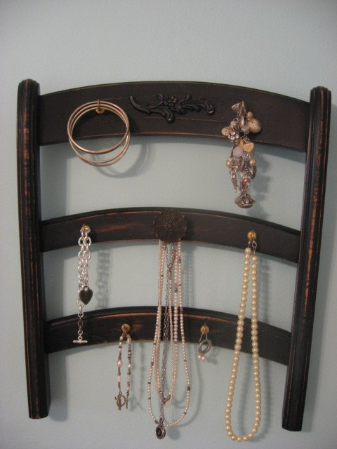 Vintage Chair Jewelry Wall Holder