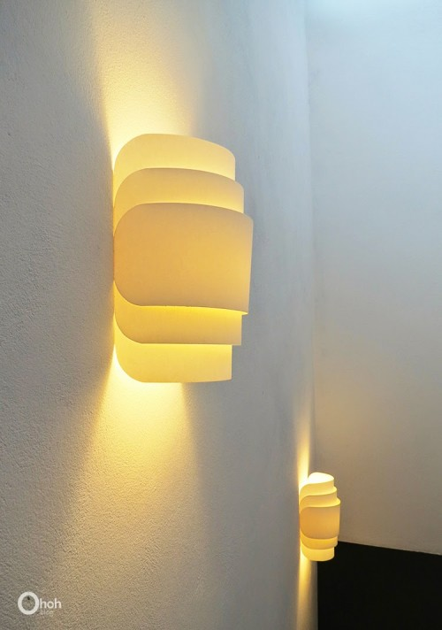 Voluminous DIY Paper Wall Lamp - Shelterness