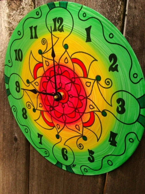 Vynil Record Clock