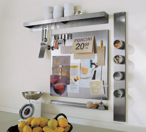 Using Wall-Mount Magnetic Boards To Store And Show Small Things