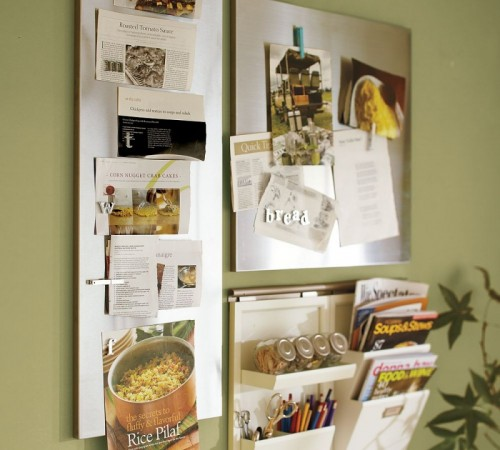 Using Wall Mount Magnetic Boards To Store And Show Small