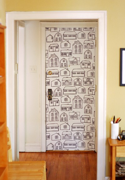 10 Cool Ideas To Decorate Your Doors With Wallpapers & 10 Cool Ideas To Decorate Your Doors With Wallpapers - Shelterness