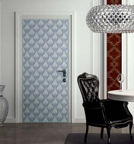 Genial Wallpaper On A Door