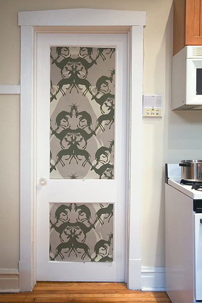 Wallpaper On A Door